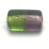 Glass Beads 12x7mm Tube Two Tone Olivine/Amethyst